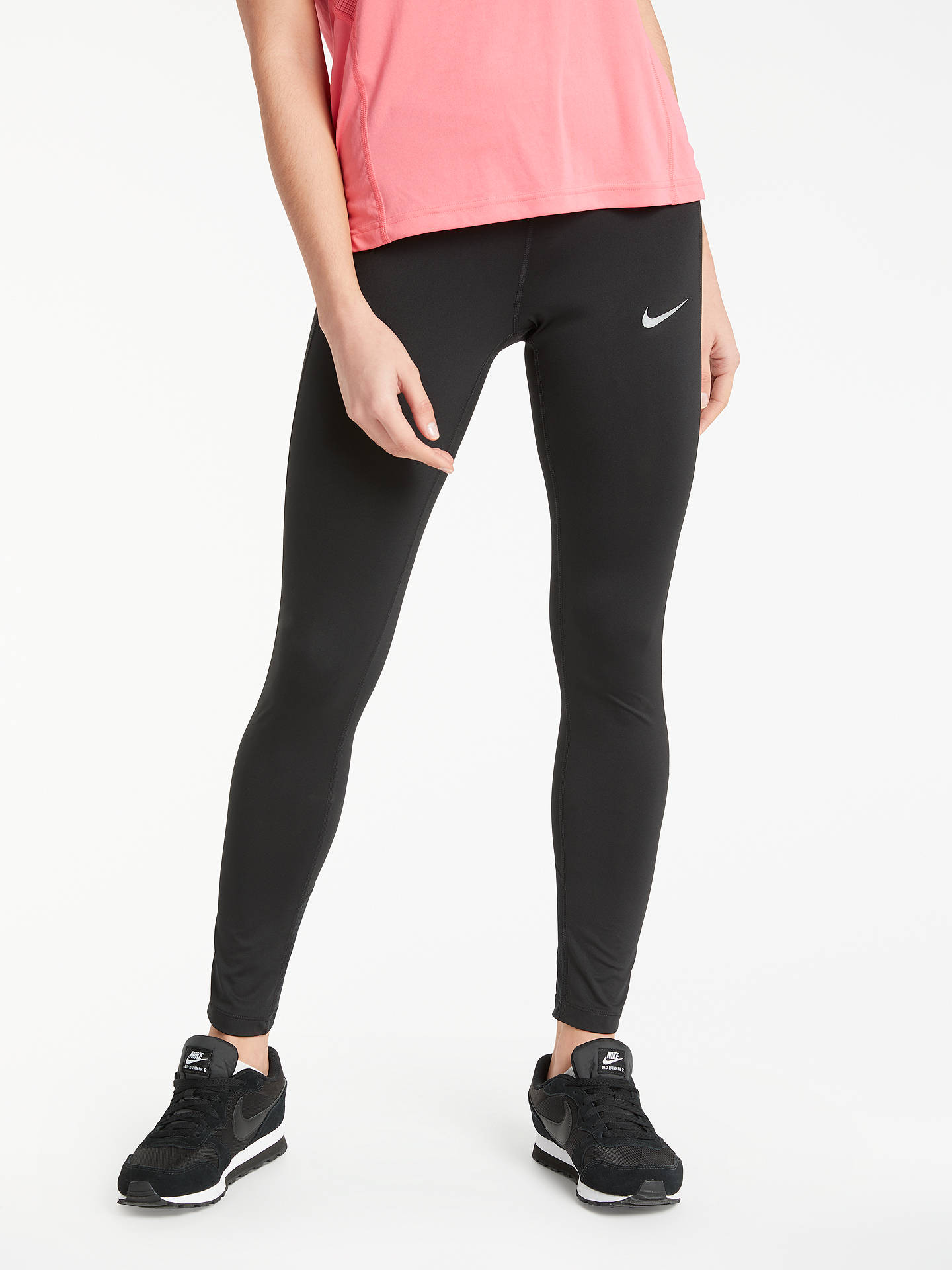 Nike Running Tights, Black at John Lewis & Partners