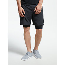 "Buy Nike Flex Stride 2 in 1 7"" Running Shorts, Black Online at johnlewis.com"