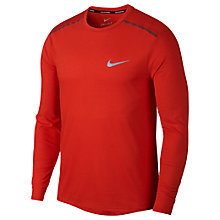 Buy Nike Breathe Rise 365 Long Sleeve Running Top, Habanero Red Online at johnlewis.com