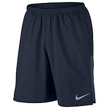 "Buy Nike Flex 9"" Running Shorts, Obsidian/Thunder Blue Online at johnlewis.com"