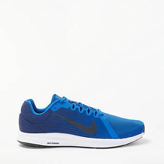 Nike Downshifter 8 Men's Running Shoes, Blue/Black/White
