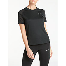 Buy Nike Miler Short Sleeve Running Top Online at johnlewis.com