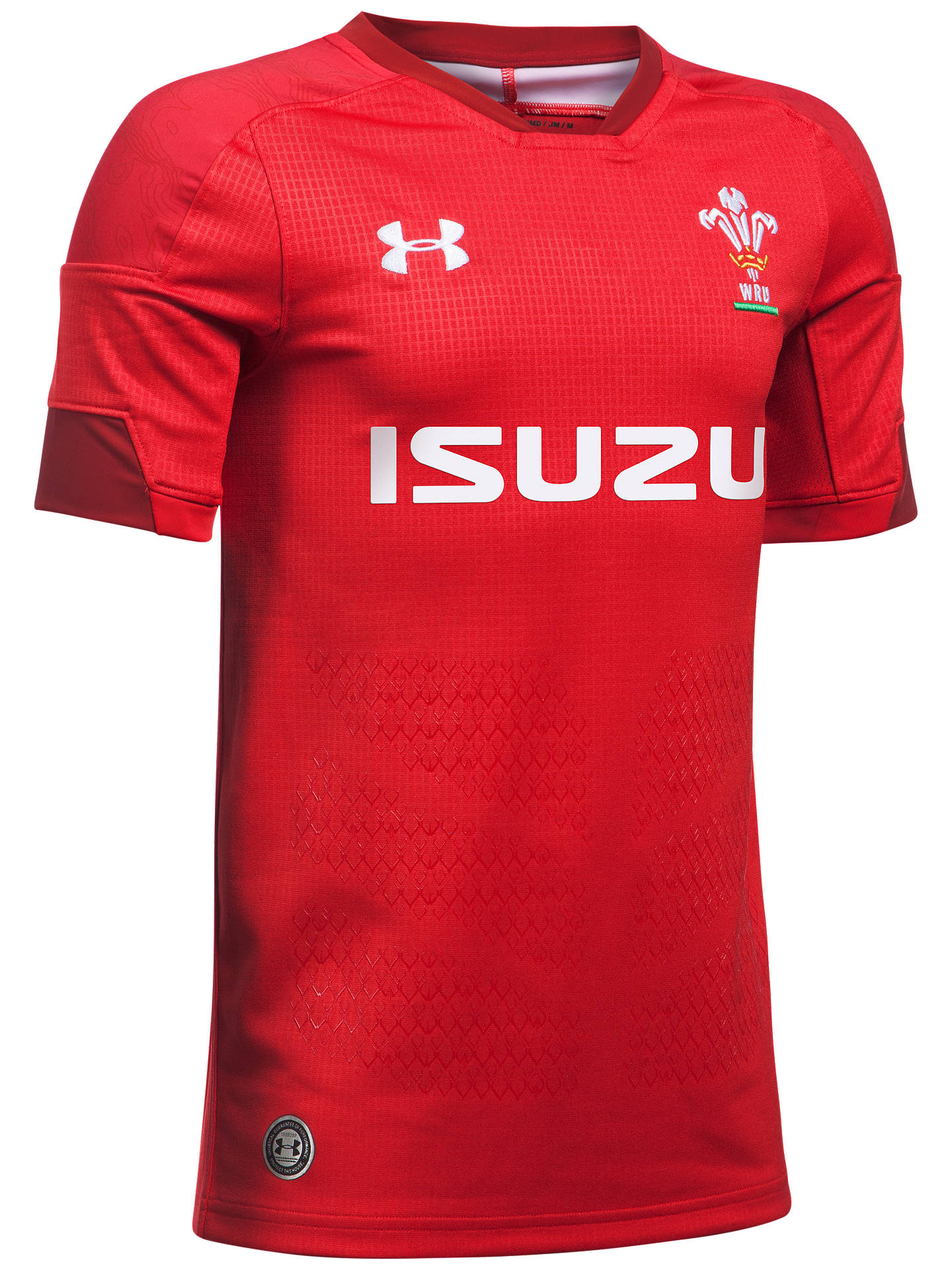 42b571b8b83 Buy Under Armour Official Welsh Rugby Union Supporters Shirt, Red, S Online  at johnlewis ...