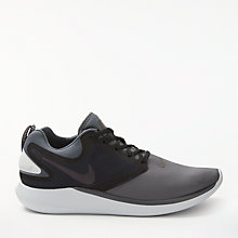Buy Nike LunarSolo Running Shoe, Dark Grey/Black Online at johnlewis.com