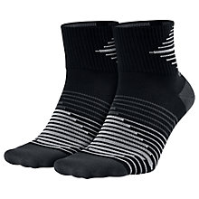 Buy Nike Performance Lightweight Quarter Running Socks, Black/Anthracite Online at johnlewis.com