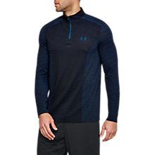 Buy Under Armour Threadborne Seamless 1/4 Zip Long Sleeve Top, Academy Navy Online at johnlewis.com