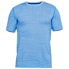 Buy Under Armour Threadborne Elite Short Sleeve Training Top, Mediterranean Blue Online at johnlewis.com