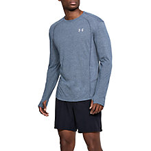 Buy Under Armour Swyft Short Sleeve Running Top, Academy Light Heather Online at johnlewis.com