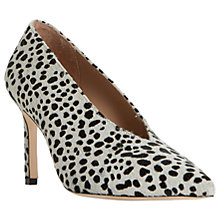 Buy Dune Black Amigos Stiletto Heeled Court Shoes, Black/White Online at johnlewis.com