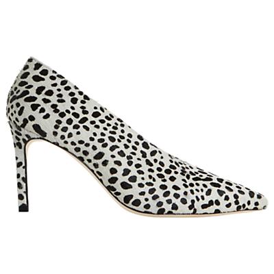 Dune Black Amigos Stiletto Heeled Court Shoes, Black/White