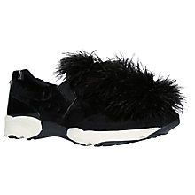 Buy Carvela Lima Fluffy Slip On Trainers, Black Online at johnlewis.com