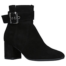 Buy Carvela Comfort Rachel Block Heeled Ankle Boots, Black Suede Online at johnlewis.com