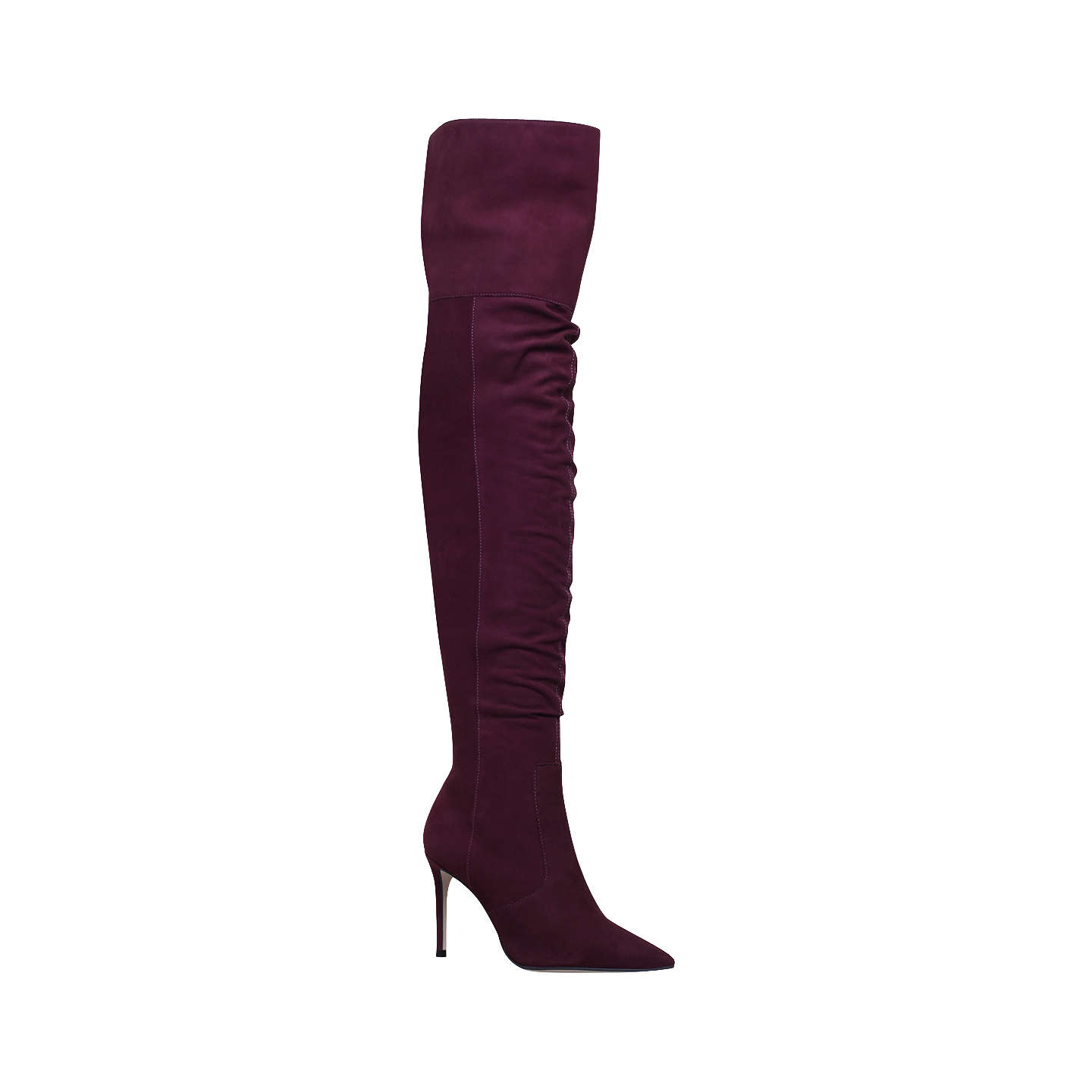 BuyCarvela Winner Over the Knee Boots, Red Wine, 3 Online at johnlewis.com  ...