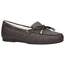Buy MICHAEL Michael Kors Sutton Moccasins, Brown Leather Online at johnlewis.com