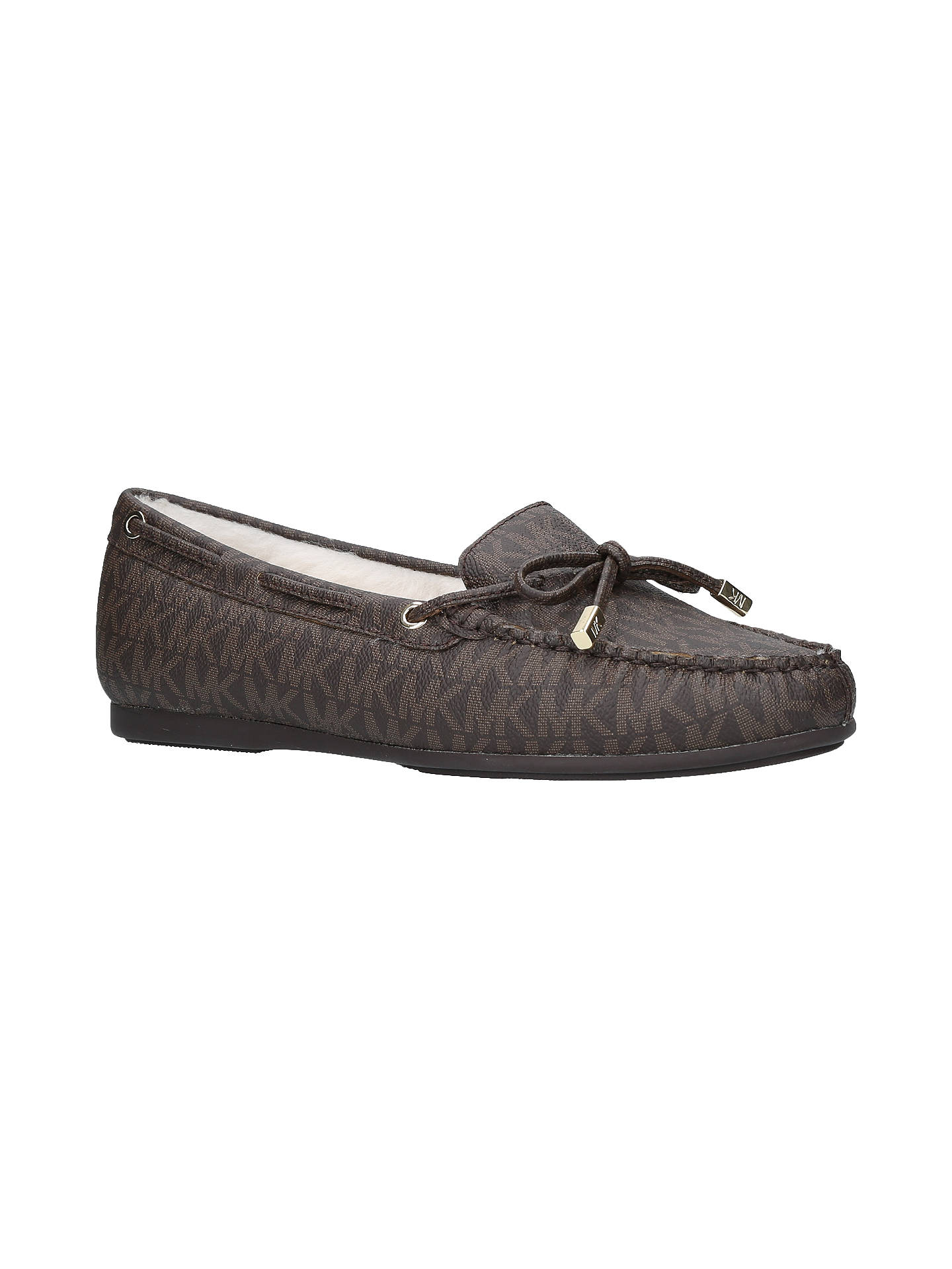 1b9a35198ce Buy MICHAEL Michael Kors Sutton Moccasins, Brown Leather, 3 Online at  johnlewis.com ...