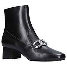 Buy MICHAEL Michael Kors Vanessa Chain Ankle Boots, Black Leather Online at johnlewis.com