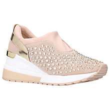 Buy MICHAEL Michael Kors Maloy Wedge Heeled Trainers, Peach Online at johnlewis.com