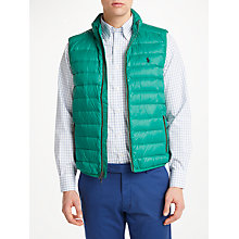 Buy Polo Golf by Ralph Lauren Pack Down Gilet, Bush Green Online at johnlewis.com
