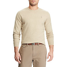 Buy Polo Golf by Ralph Lauren Long Sleeve Crew Neck Sweater, Expedition Dune Heather Online at johnlewis.com