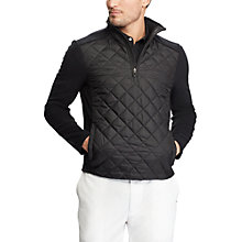 Buy Polo Golf By Ralph Lauren Fleece Quilted Jacket, Black Online at johnlewis.com