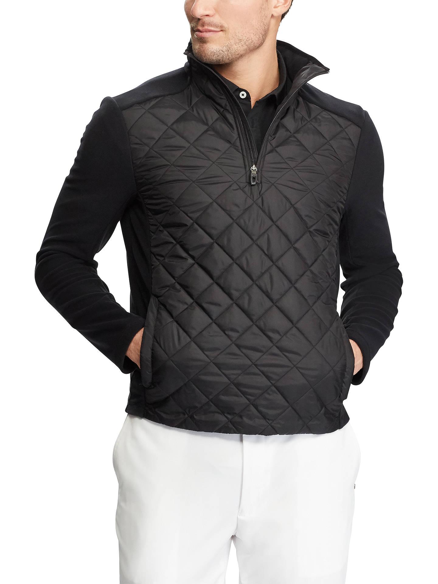 21d3067e Polo Golf By Ralph Lauren Fleece Quilted Jacket, Black at John Lewis ...