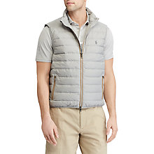 Buy Polo Golf by Ralph Lauren Pack Down Gilet, Fog Grey Online at johnlewis.com