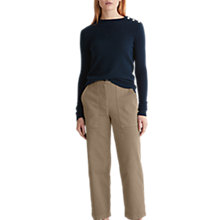 Buy Toast Cashmere Wool Button Jumper, Dark Navy Online at johnlewis.com