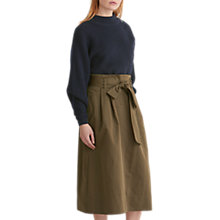 Buy Toast Cotton Linen Skirt, Moss Online at johnlewis.com
