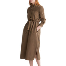 Buy Toast Twill Drawstring Dress, Moss Green Online at johnlewis.com