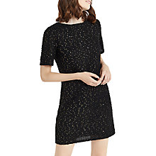 Buy Oasis Foil Popcorn Dress, Multi Black Online at johnlewis.com