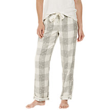 Buy Fat Face Star Check Classic Pyjama Bottoms, Grey Marl Online at johnlewis.com