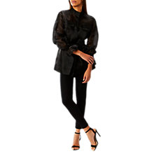 Buy Coast Estelle Shacket, Black Online at johnlewis.com