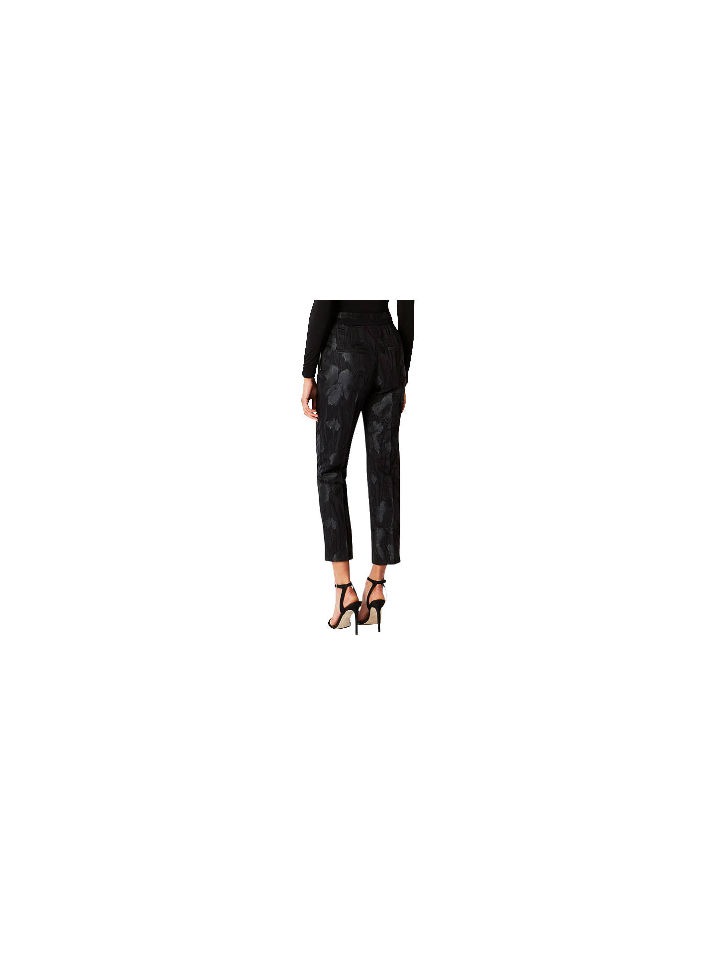 BuyCoast Ivana Jacquard Trousers, Black, 6S Online at johnlewis.com