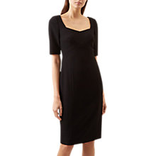 Buy Hobbs Violet Tailored Dress, Black Online at johnlewis.com