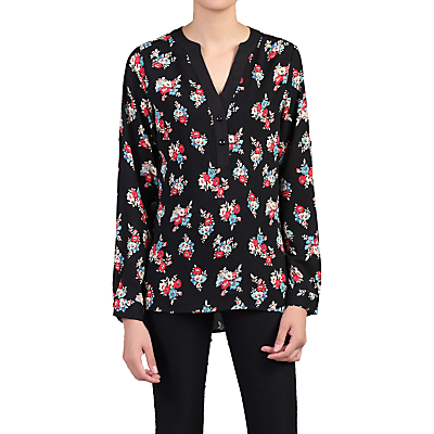 Product photo of Jolie moi floral print blouse black