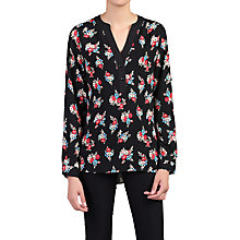Buy Jolie Moi Floral Print Blouse, Black Online at johnlewis.com
