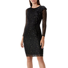 Buy Coast Reva Cobweb Lace Shift Dress, Black Online at johnlewis.com