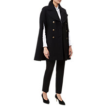 Buy Hobbs Taylor Cape, Black Online at johnlewis.com