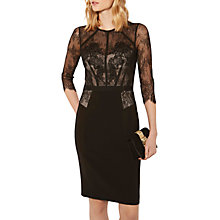 Buy Karen Millen Beaded Embroidered Victorian Dress, Black Online at johnlewis.com