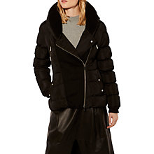 Buy Karen Millen Down Collection Jacket, Black Online at johnlewis.com