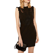 Buy Karen Millen Applique Embroidered Pencil Dress, Black Online at johnlewis.com
