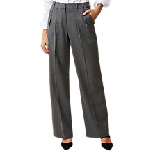 Buy Hobbs Larna Trousers, Grey Online at johnlewis.com