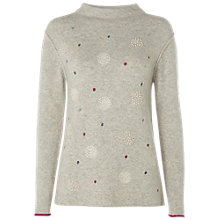 Buy White Stuff Solar Spot Jumper, Light Grey Online at johnlewis.com