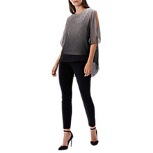 Buy Coast Florence Hotfix Top, Grey Online at johnlewis.com