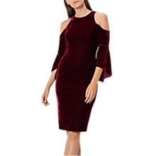 Buy Coast Celestine Velvet Shift Dress, Merlot Online at johnlewis.com