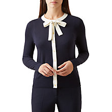Buy Hobbs Martha Cardigan, Navy/Ivory Online at johnlewis.com