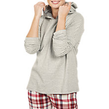 Buy Fat Face Snow Stripe Soft Lounge Hoodie, Grey Marl Online at johnlewis.com