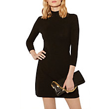 Buy Karen Millen Stud Knitted Dress, Black Online at johnlewis.com