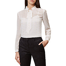 Buy Hobbs Sally Blouse, Ivory Online at johnlewis.com