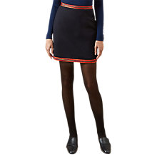 Buy Hobbs Marisa Cotton Rich Mini Skirt, Navy/Multi Online at johnlewis.com